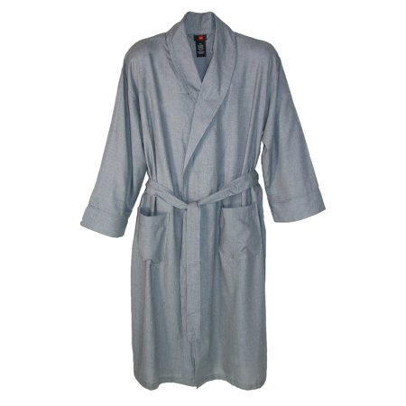 Big And Tall Plaid Robe - Hanes  Men's Lightweight Woven Robe Tall Sizes