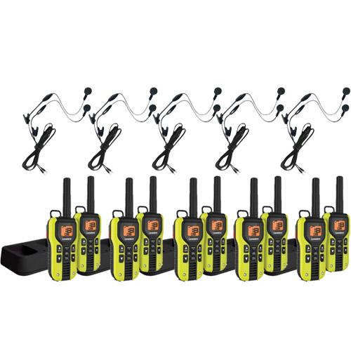 Uniden GMR4060-2CKHS (10-pack) 40-Mile 2-Way FRS/GMRS Radios w/ Headset