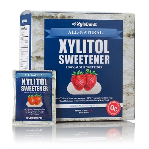 Xylitol Individual Packets XyloBurst 80 (4 g ) Packets Box
