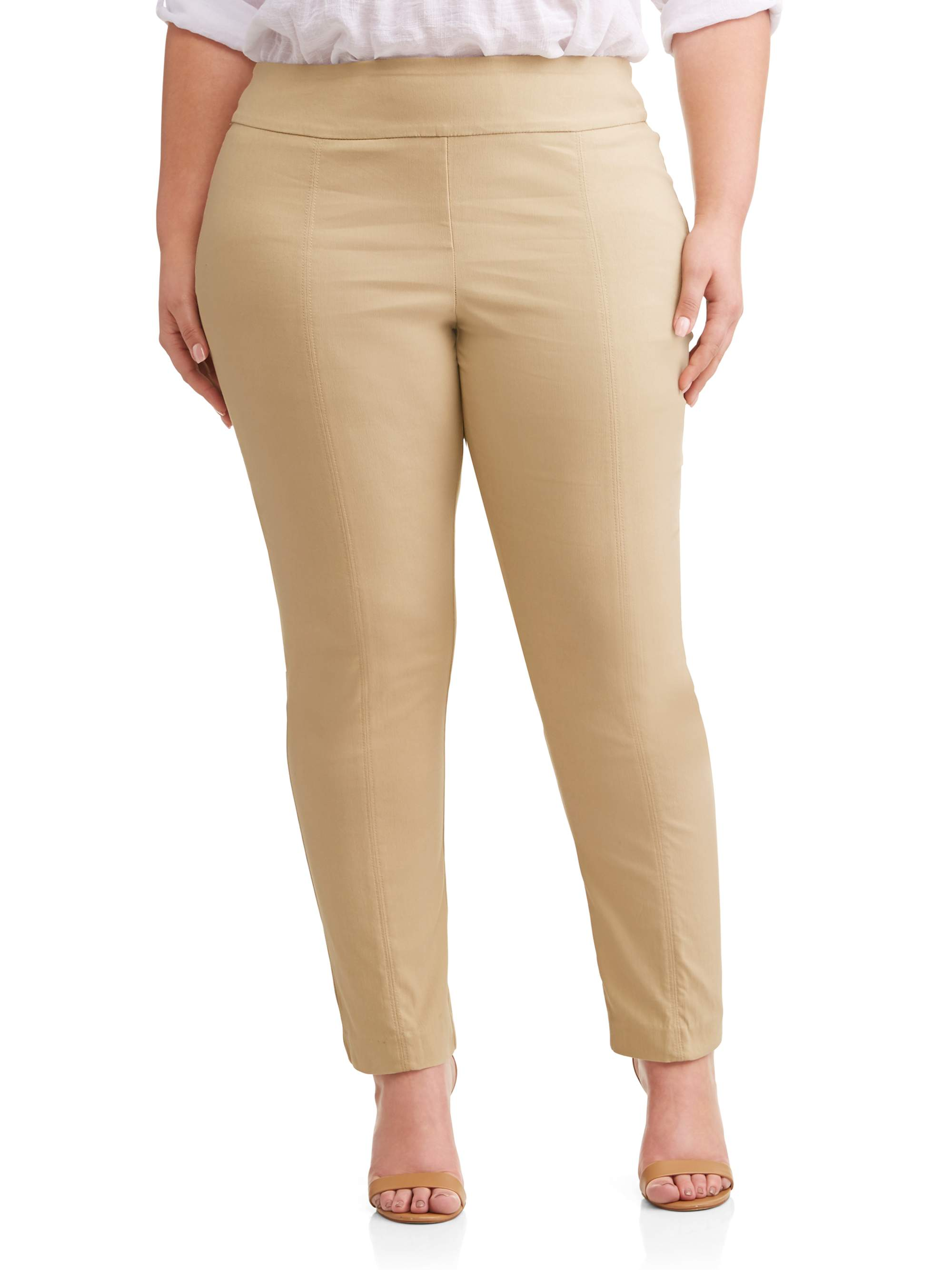 Women's Plus Size Pull On Career Pant with Tummy Control