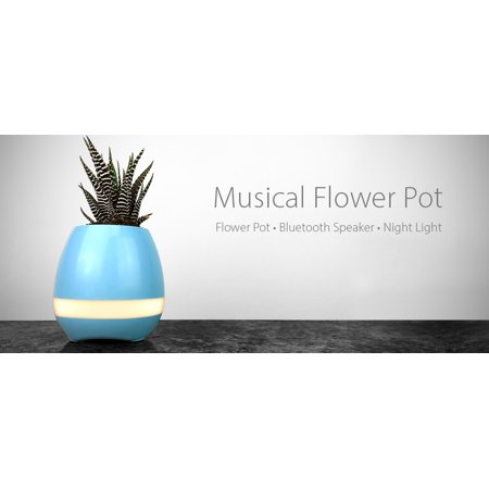 Music Flower Pot Vase Touch Plant Playing Piano LED Lamp Light Bluetooth Speaker