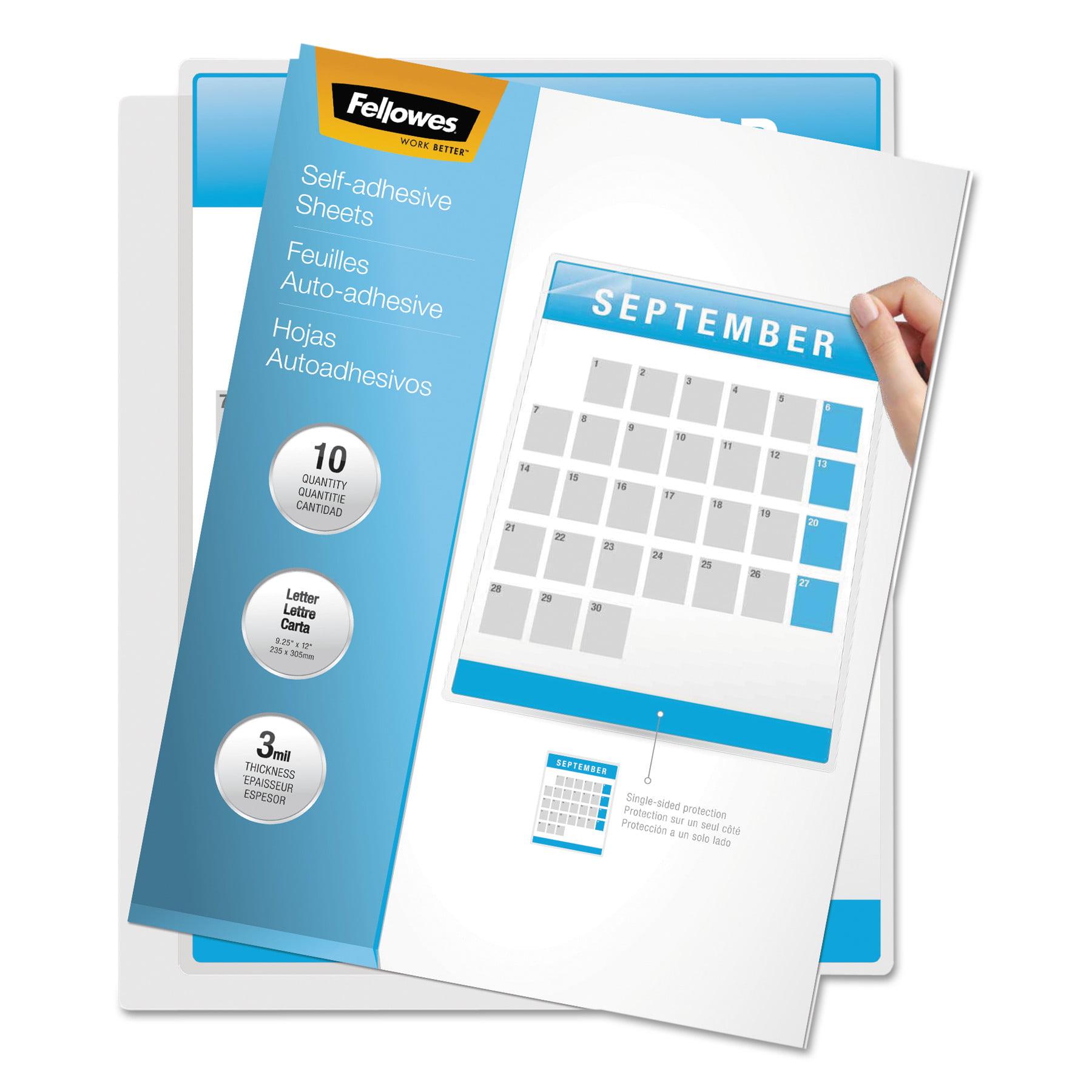 Fellowes Self-Laminating Sheets, 3mil, 12 x 9 1/4, 50/Box -FEL5221502