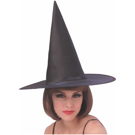 Economy Satin Witch Hat Rubies H139S - Witch Hat Cupcakes