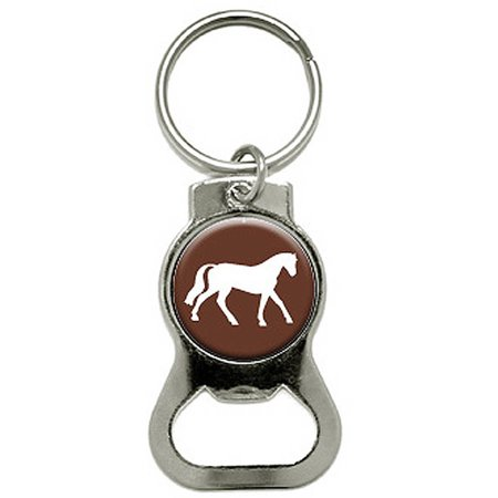 horse bottle cap opener keychain ring. Black Bedroom Furniture Sets. Home Design Ideas