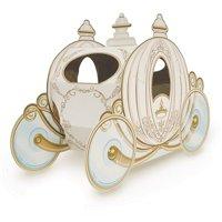 "Club Pack of 12 Decorative Gold 3-D Cinderella Pumpkin Carriage Centerpieces 11"""