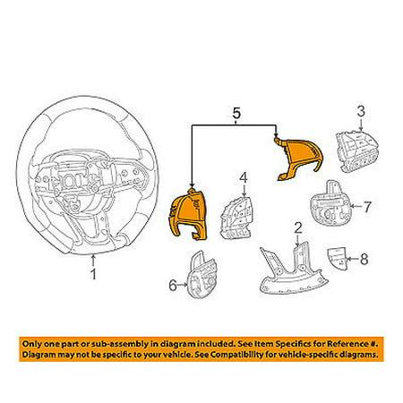 Dodge CHRYSLER OEM 15-16 Charger Steering Wheel-Switch Bezel Left 5RB83NCCAA