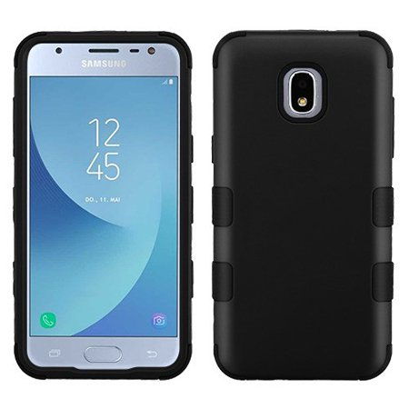 Samsung Galaxy J3 2018, J337, J3 V, J3 3rd Gen, J3 Star, J3 Achieve, Express Prime 3 Phone Case Tuff Hybrid Shockproof Impact Rubber Dual Layer Hard Soft Protective Hard (Soft Rubberized Case Cover)
