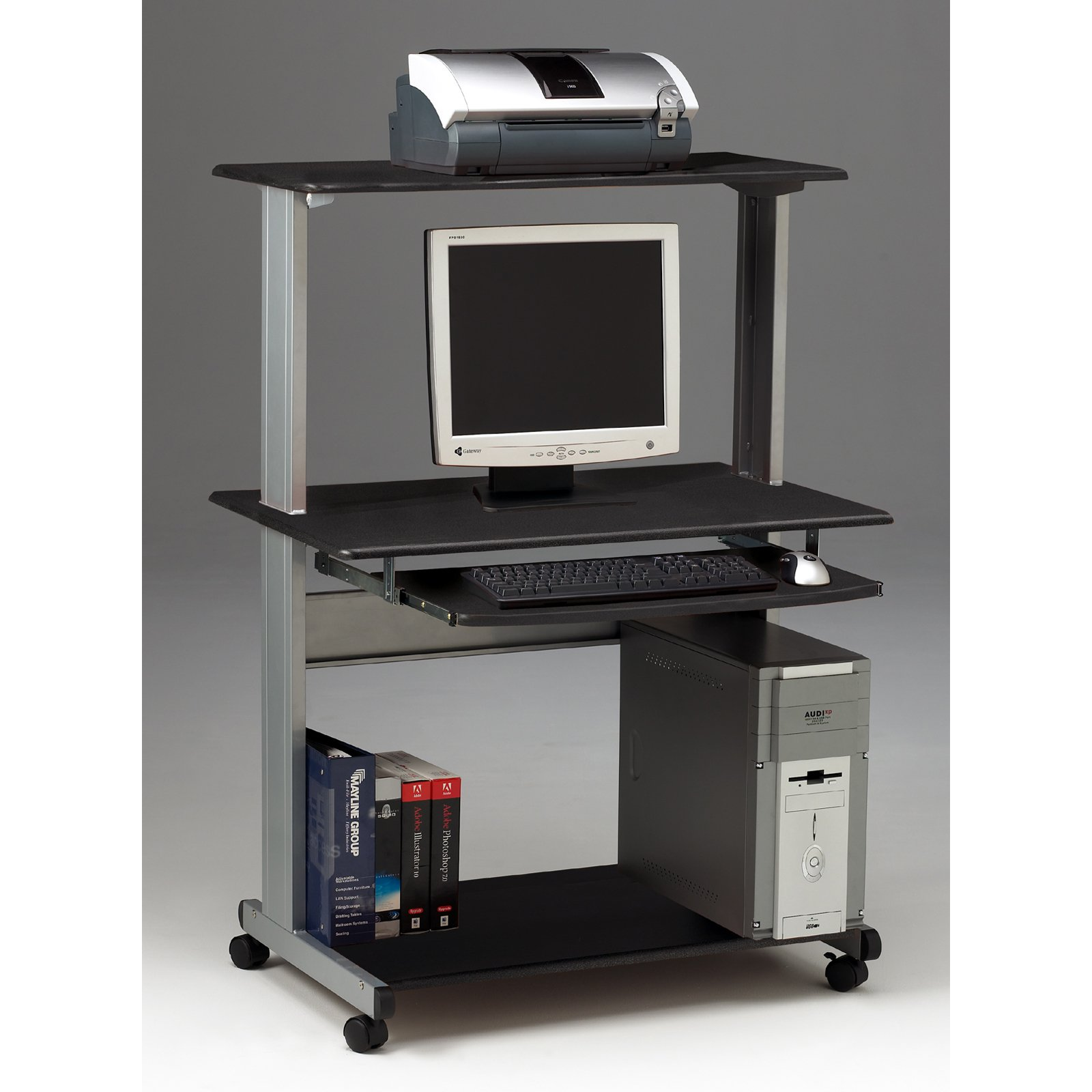 Mayline Mobile Multimedia Computer Workstation Desk