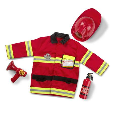 Melissa & Doug Fire Chief Role Play Costume Dress-Up Set](Kids Dressup Clothes)