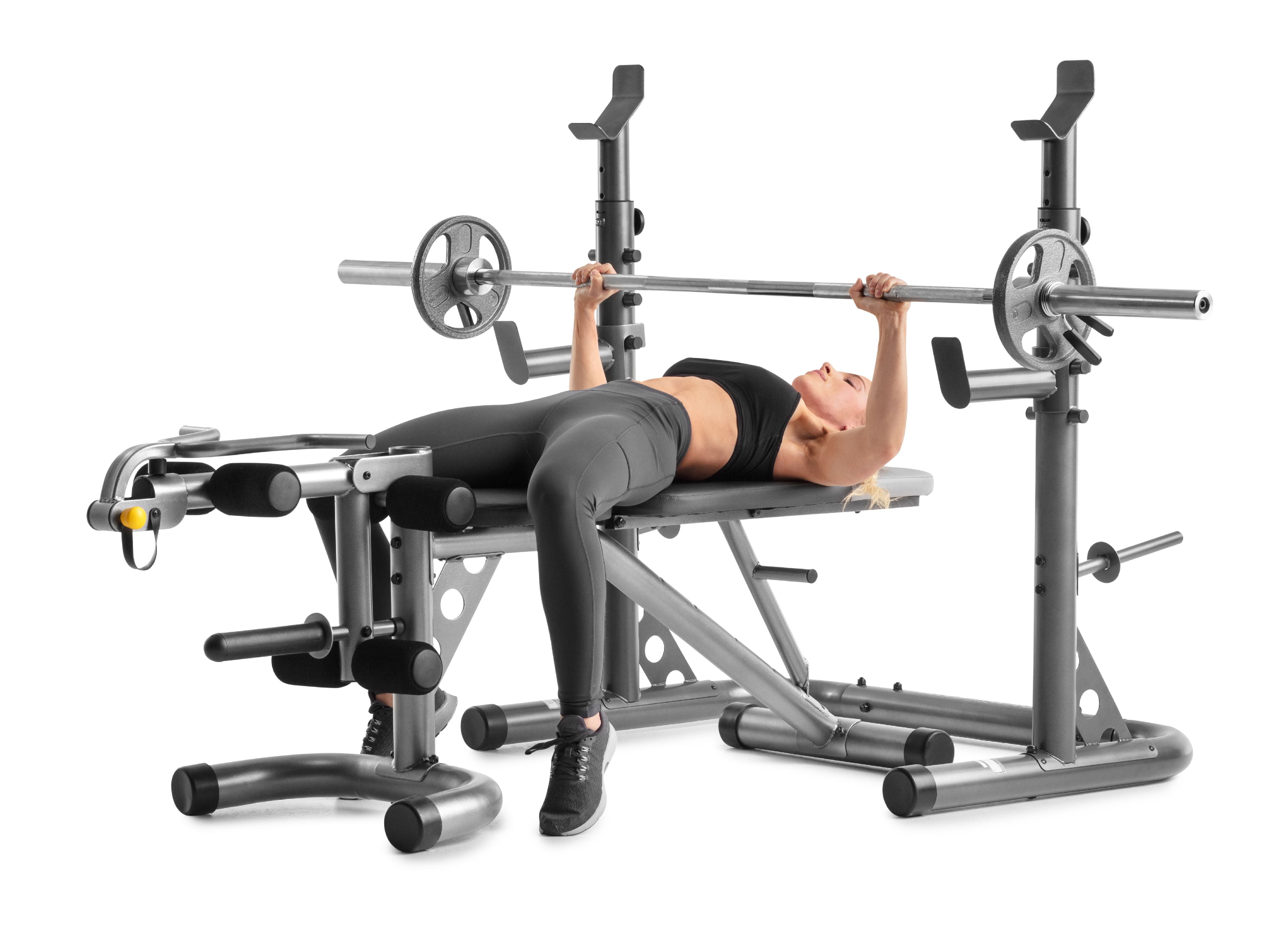 Gold s gym xrs olympic workout bench with squat rack walmart