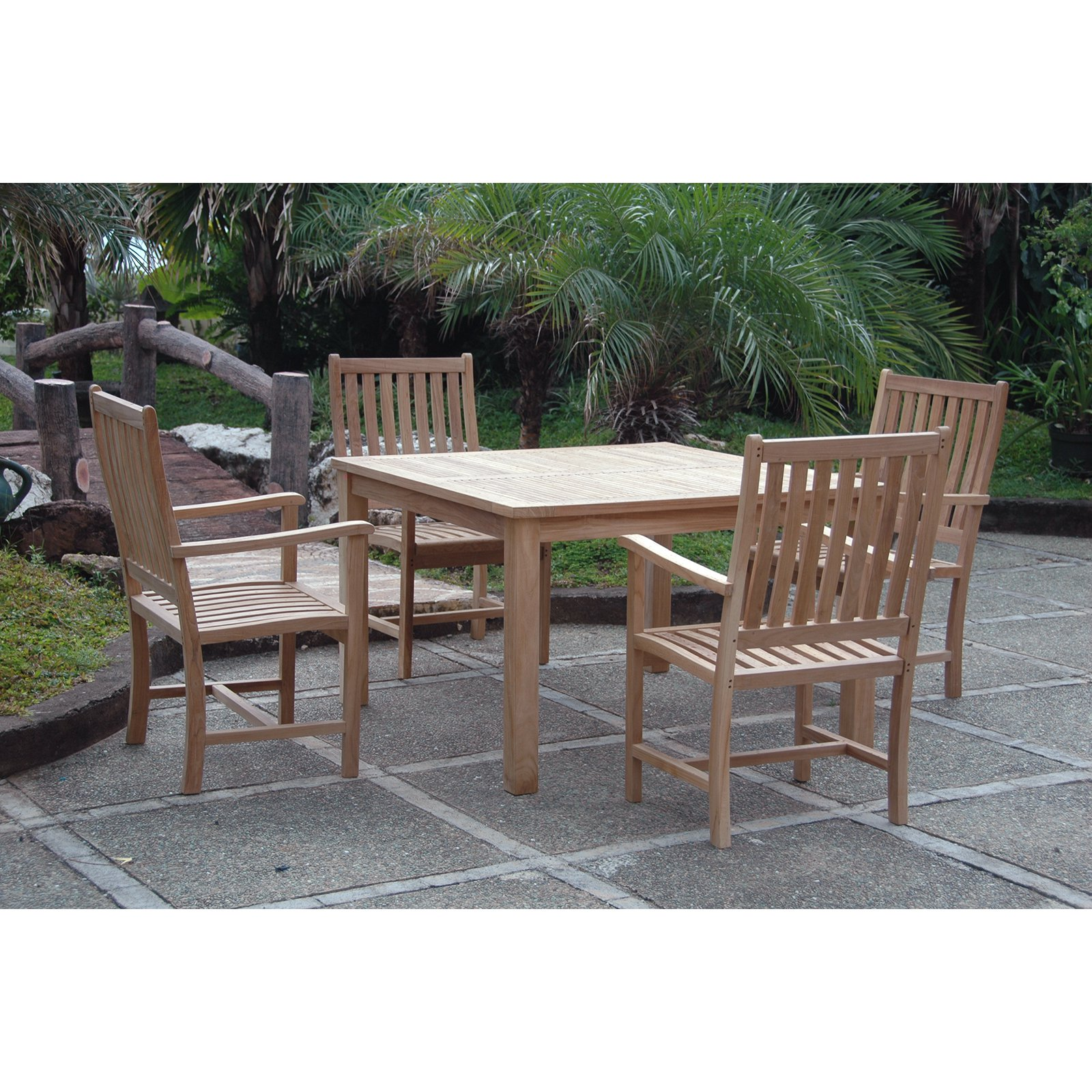 Anderson Teak Windsor 3 Piece Patio Dining Room Set by Anderson