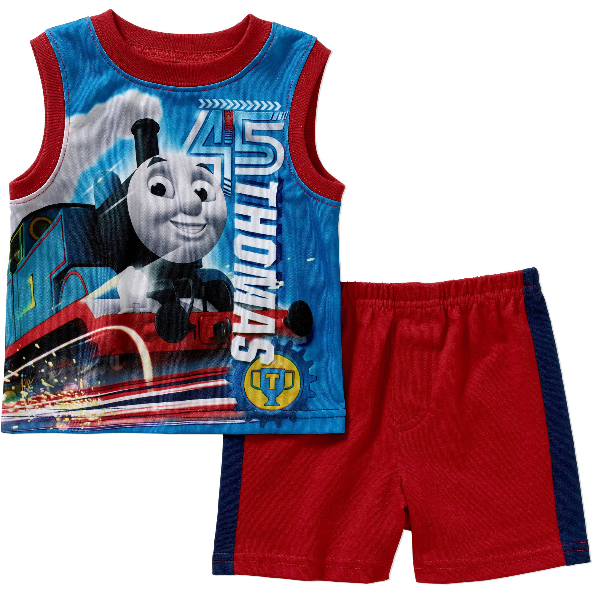 Thomas the Train Newborn Baby Boy Muscle Tank and Short 2 pc Set