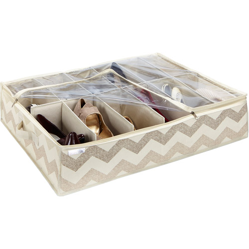 ClosetCandie Textured Chevron Under-the-Bed Shoe Box