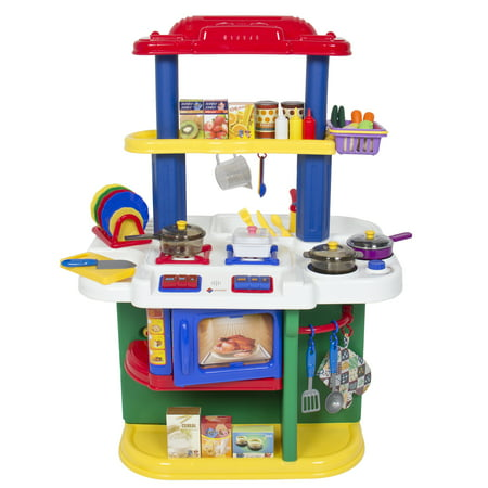 Deluxe children kitchen cooking pretend play set with for Kitchen set toys divisoria