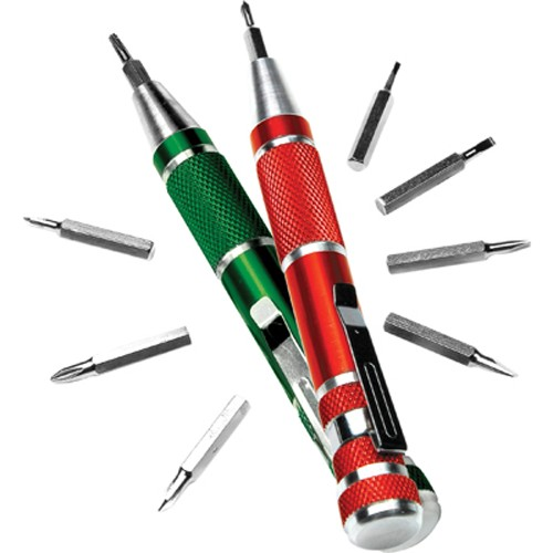 Performance Tool W9169 Precision Screwdriver Set, 18 Piece, with 2 Drivers, Slotted, Phillips, Torx and Pozi Bits, in Ca
