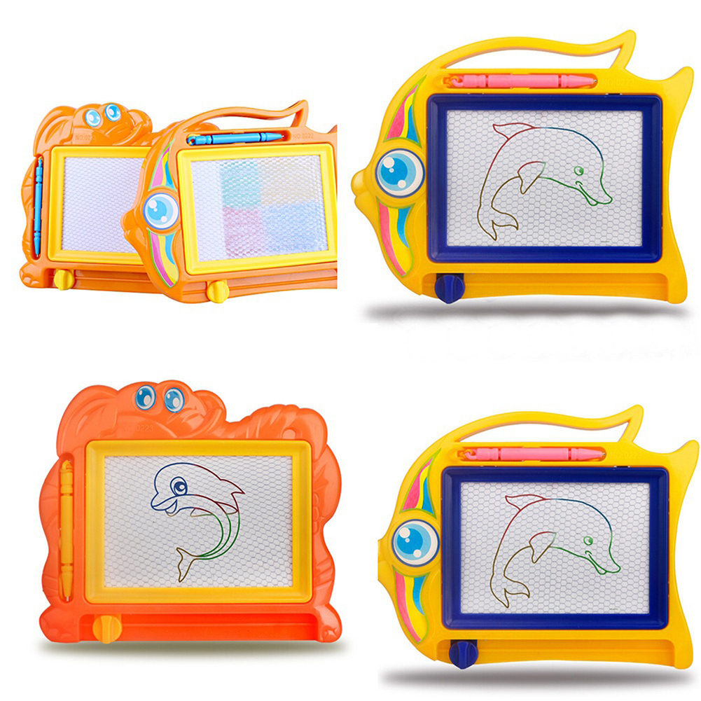 Micelec Magnetic Drawing Board Sketch Pad Doodle Writing Craft Art for Children Kids