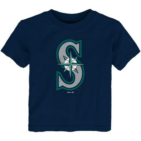 Seattle Mariners Toddler Team Primary Logo T-Shirt - Navy