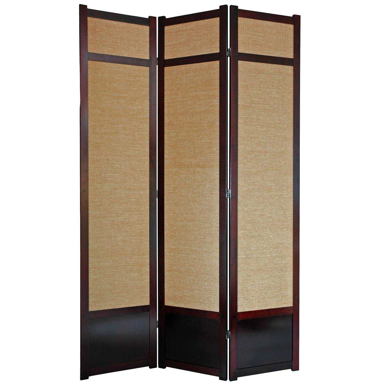 Oriental Furniture Jute Fiber Shoji Screen Room Divider 84 Inch