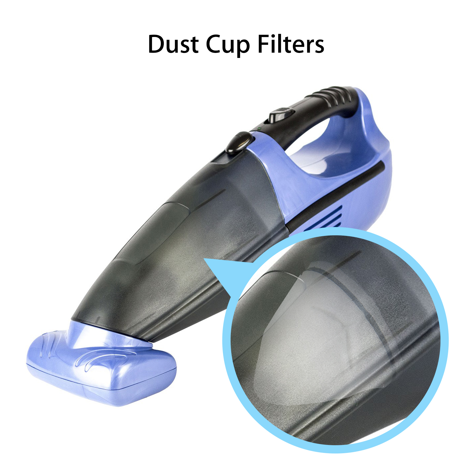 3Pcs Dust Cup Filters For Shark SV75 SV780 Handheld Vacuum Cleaner Parts