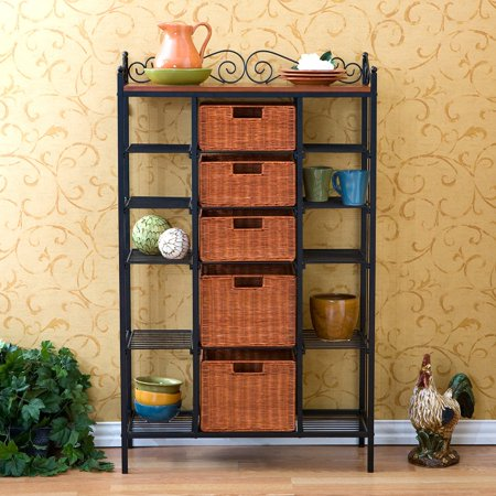 Large Celtic Kitchen Storage Unit with Baskets - Walmart.com