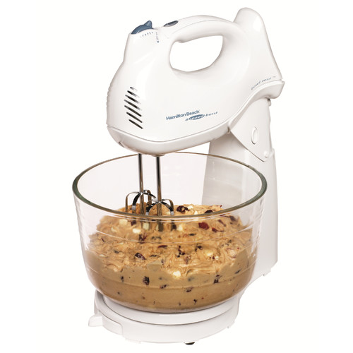 Hamilton Beach Power Deluxe Hand / Stand Mixer in White