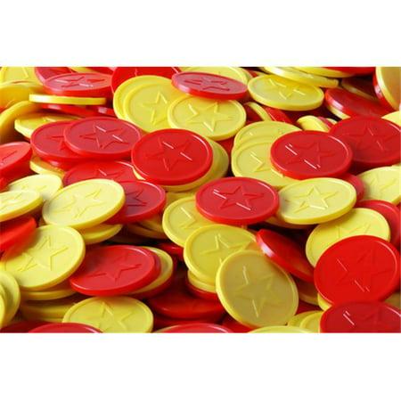 Plastic Token (B-Token TOPLSTEM01 Embossed Tokens in Yellow with)