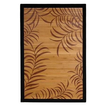 Bamboo Rug, Tropical Leaf