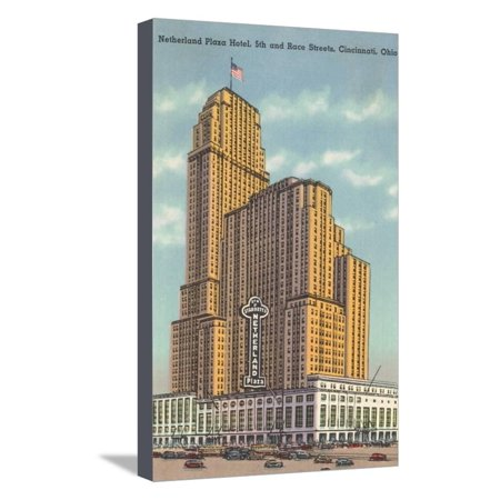 Netherland Plaza Hotel, Cincinnati Stretched Canvas Print Wall Art