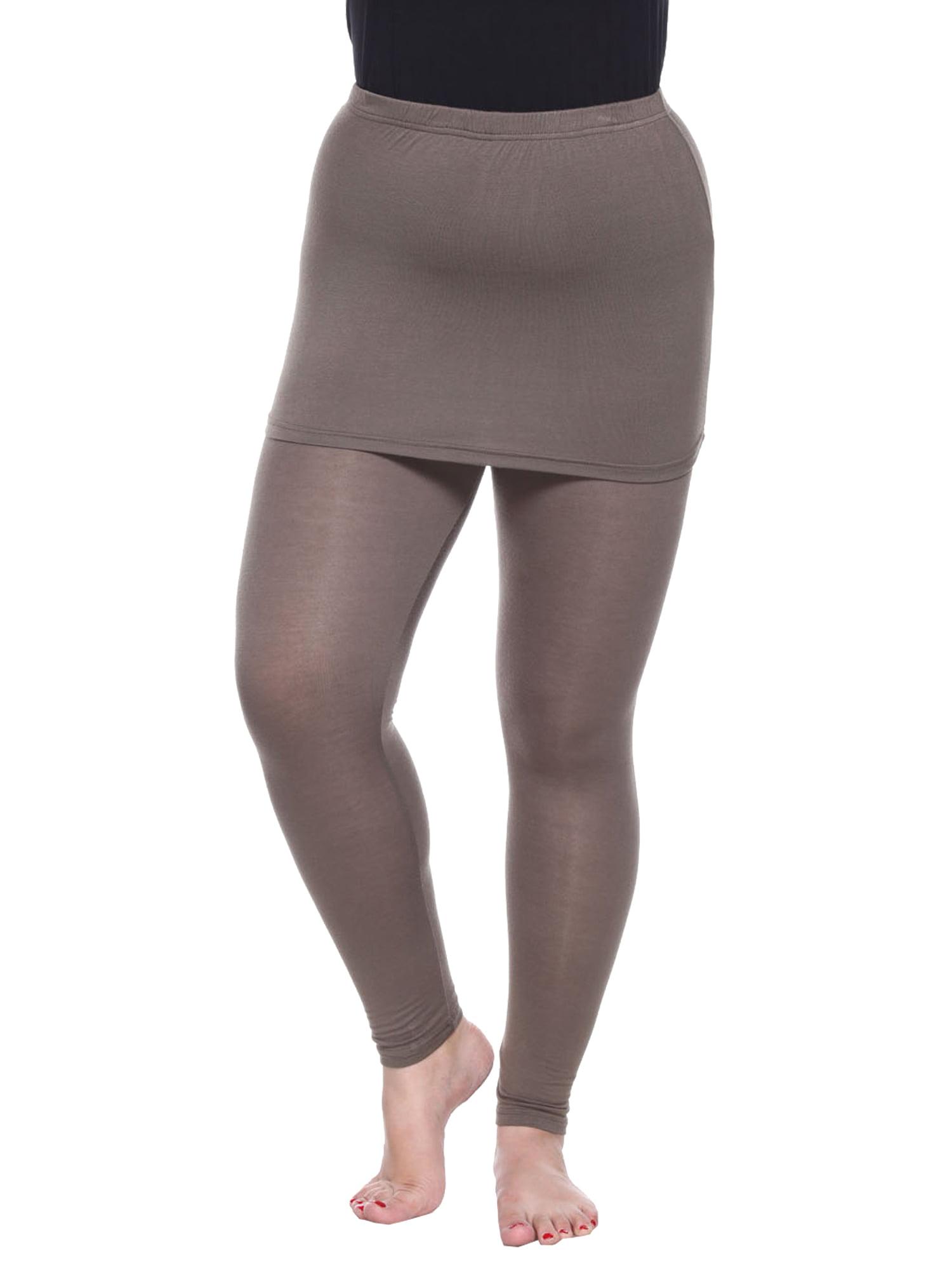 Plus Size Olive Skirted Leggings