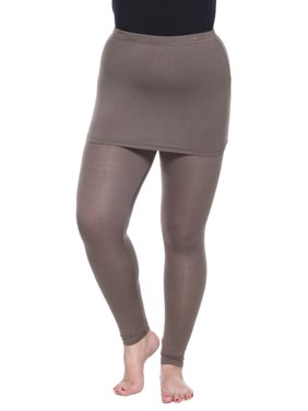 a7c542f2136918 Product Image Plus Size Olive Skirted Leggings
