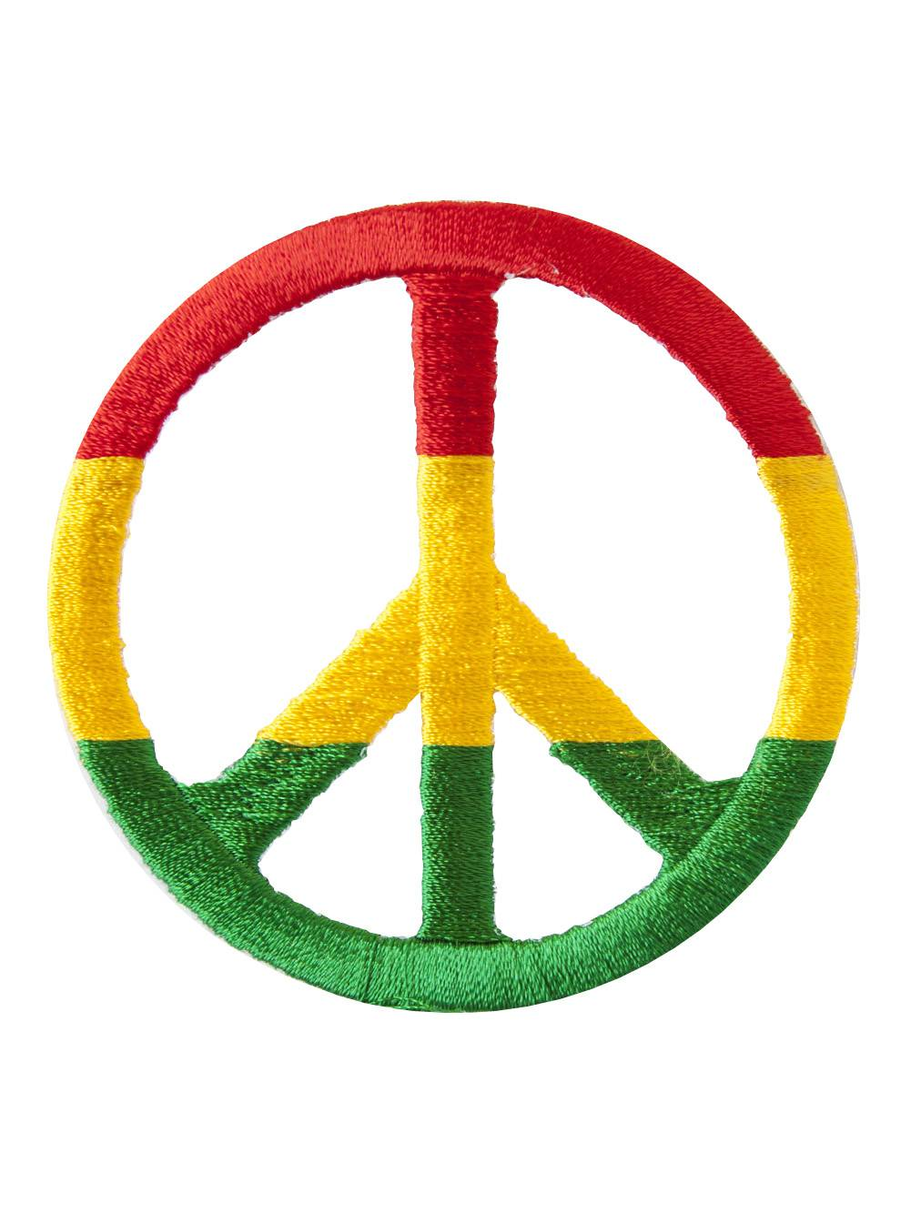 Rasta Peace Sign Patch Walmart