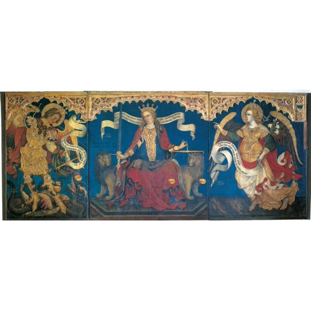 Justice Between The Archangels Michael And Gabriel Canvas Art -  (36 x 24) (Archangel Gabriel Boy Or Girl)