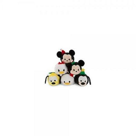 Tsum Tsum Mini Plush 6pc Set: Holiday Classic Mickey, Minnie, Goofy, Pluto, Donald, and Daisy Duck - Donald And Daisy Duck Costumes