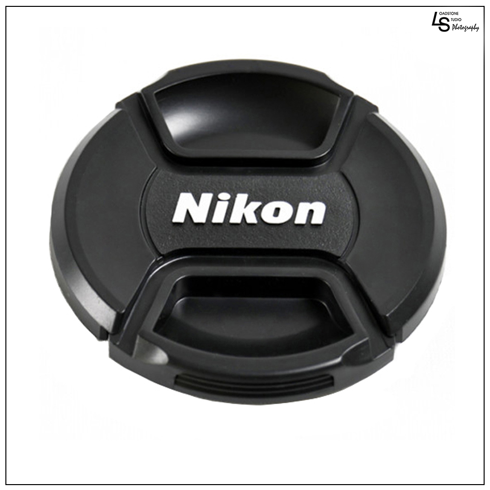 58mm Nikon Center Squeeze Pinch Snap-On Lens Front Replacement Cap for Lens Care on Nikon DSLR Camera by Loadstone Studio  WMLS0434