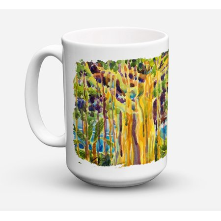 Tree - Banyan Tree Dishwasher Safe Microwavable Ceramic Coffee Mug 15 ounce 6064CM15