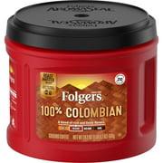 Folgers 100% Colombian, Medium-Dark Roast Ground Coffee, 24.2-Ounce