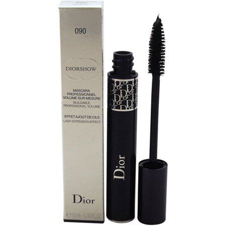 Pro Lash Mascara (Diorshow Lash Extension Effect Volume Mascara - # 090 Pro Black by Christian Dior for Women, 0.33)