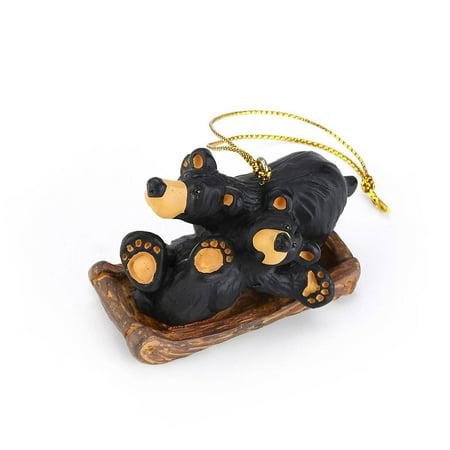 (Bearfoots Bear Sledding Fun Ornament, Issue date: 2015 By Bearfoots Bears by Jeff Fleming)