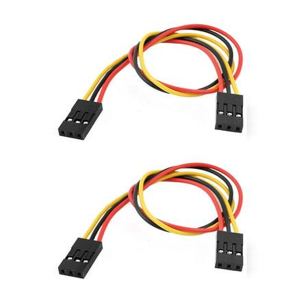 2 Pcs 2.54mm Pitch 20cm Cable Line 3P-3P Double Head Connector