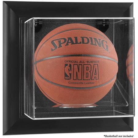 Black Framed Wall Mountable Basketball Display Case