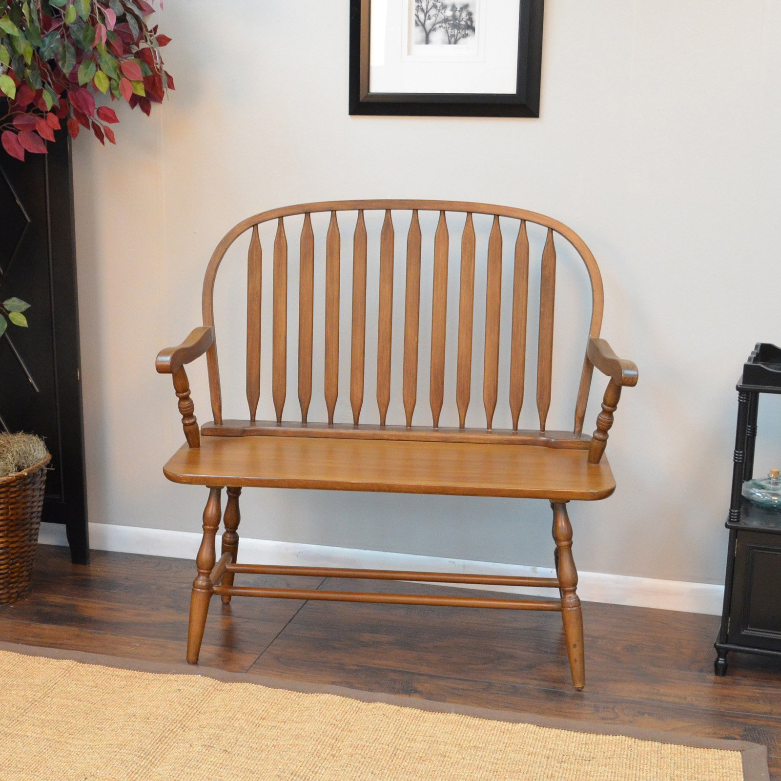 Carolina Chair and Table Windsor Bench - Walmart.com