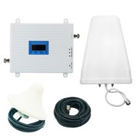 Cell Phone Signal Booster Tri-band 900MHZ 1800MHZ 2100MHZ 2G 3G 4G Mobile Repeater Amplifier Kit