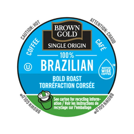 Brown Gold Coffee 100% Brazilian, RealCup portion pack for Keurig K-Cup Brewers, 24 Count (Brown Coffee)