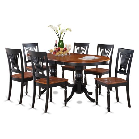 East West Furniture Plainville 7 Piece Empire Dining Table Set