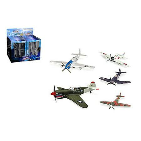 NEWRAY 1:48 PILOT MODEL KITS - WORLD WAR II FIGHTER PLANES - 5 STYLES - 5PCS SET