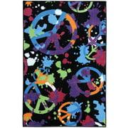 Your Zone Yz 30x46 Peace Splatter Multi Area Rug