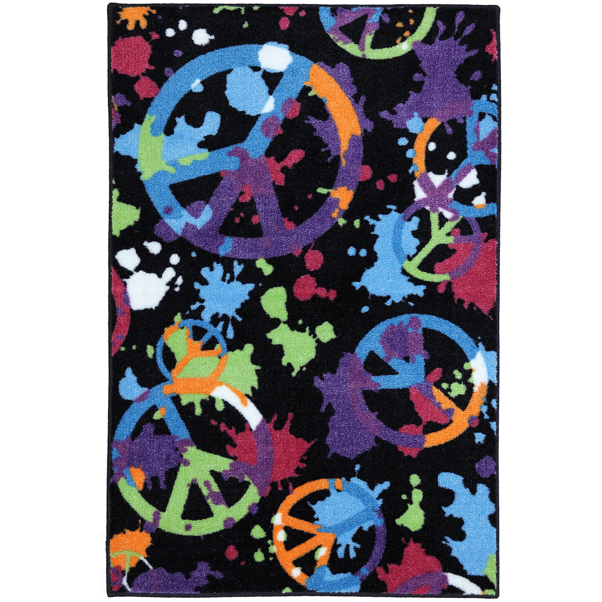 Your Zone Yz 30x46 Peace Splatter Multi Area Rug
