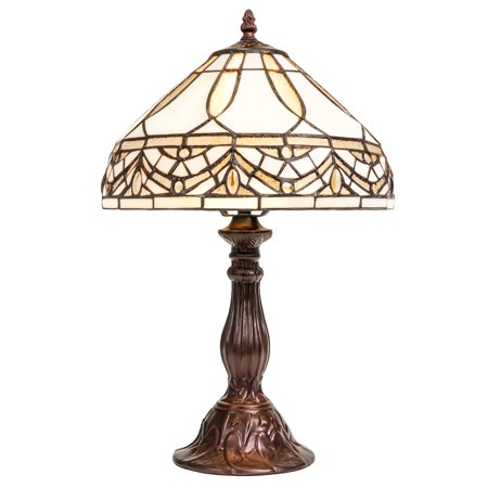 (Best Choice Products Living Room Bedroom Nightstand Tiffany Style Jewel Table Lamp)