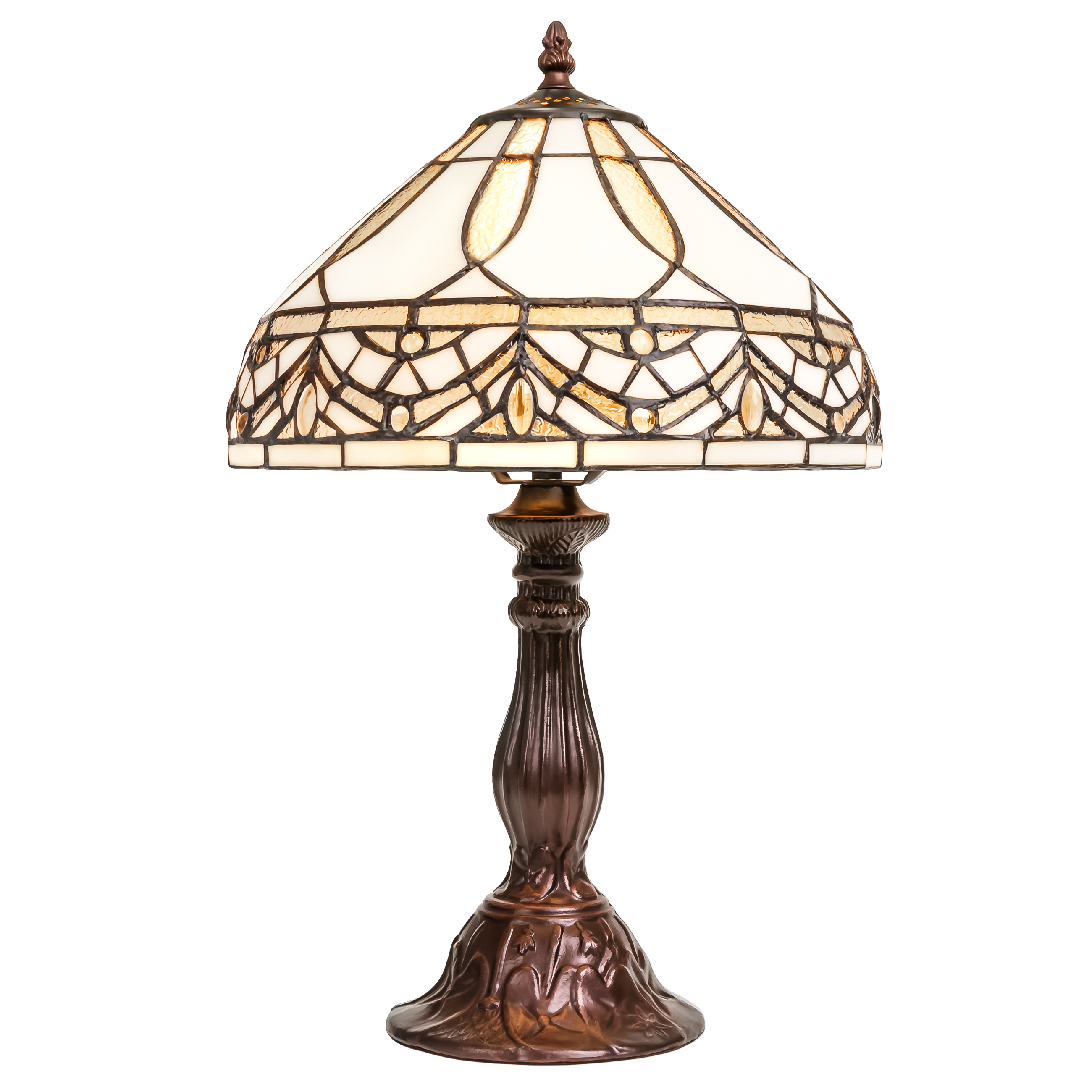Best Choice Products Living Room Bedroom Nightstand Tiffany Style Jewel Table  Lamp