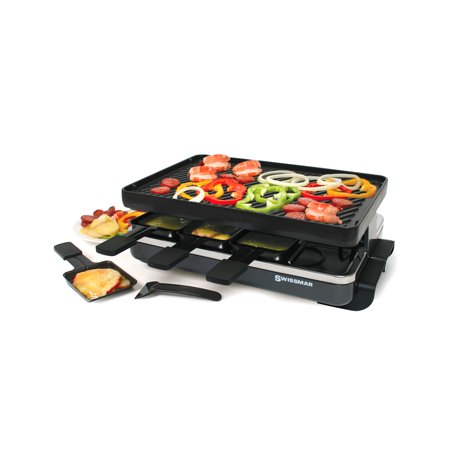 Swissmar Classic Raclette 8 Person Grill w/Cast Iron Grill Plate